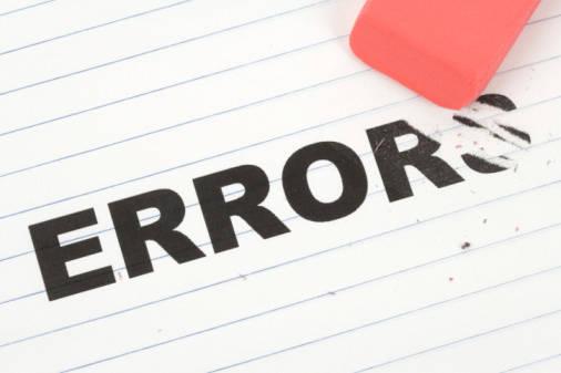 eraser and word error, concept of